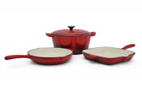 Fine Living - 4 Piece Cast Iron Set - Red Photo