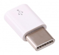 Raspberry Pi 4 USB Adapter Female Micro USB To Male USB-C White Photo