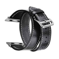 Apple Replacement Soft Genuine Leather Wrap Strap for Watch 42mm-44mm Photo