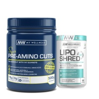 My Wellness Pre-Amino Cuts 500g Citrus LipoShred XT 90 caps Combo Photo