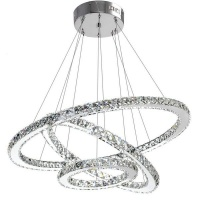 Mr Universal Lighting - Crystal Chandelier Three Sides Triple Rings Photo