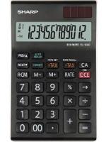 Sharp EL-128C Black and White 12 Digit Calculator Photo