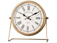 Table Clock Round Gold Photo