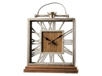 Table Clock Metal Numeral Photo