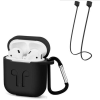 Apple Silicon Case For AirPods & Anti-lost Strap Photo