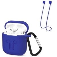 Apple Protective Case & Anti-Loss Strap For Airpods - Blue Photo