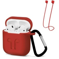 Apple Protective Case & Anti-Loss Strap For Airpods - Red Photo