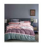 Linen Boutique - Duvet Cover 300TC 4 piecess - Strips Light Coral Photo