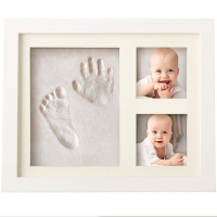 Bubzi Co Baby Handprint Kit & Footprint Photo Frame for Newborns Photo