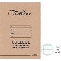 Treeline A4 College Exercise Books 72 pg Feint & Margin Photo