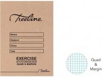 Treeline A5 Exercise Books 72 pg Quad & Margin Photo