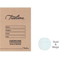Treeline A5 Exercise Books 80 pg Quad & Margin Photo