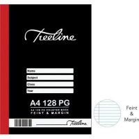 Treeline A4 128 pg Hard Cover Counter Books - Feint & Margin Photo