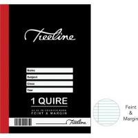 Treeline 1 Quire A4 96 pg Hard Cover Counter Books - Feint & Margin Photo