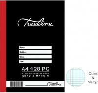 Treeline A4 128 pg Hard Cover Counter Books - Quad & Margin Photo