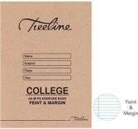 Treeline A4 College Exercise Books 48 pg Feint & Margin Photo