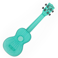 Kala SWFBL Waterman Soprano Ukulele - Fluorescent Blue Photo