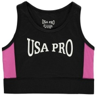 USA Pro Junior Girls Crop Top - Black [Parallel Import] Photo