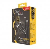 Steelplay - Car Charger With 2 Usb Ports 2m Charge Cable Photo