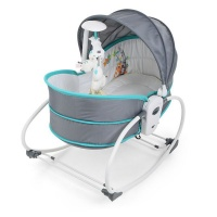 5-in-1 Rocking Bounce Chair with Removable Bassinet and Melody - Blue Photo