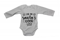 I'm on Santa's Good List - Christmas - LS - Baby Grow Photo