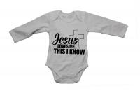 Jesus Loves Me I Know - LS - Baby Grow Photo