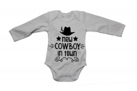 New Cowboy in Town - LS - Baby Grow Photo
