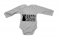 Happy Easter - Bunny Silhouette - LS - Baby Grow Photo