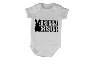 Happy Easter - Bunny Silhouette - SS - Baby Grow Photo