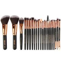 22 Piece Pro Powder Foundation Eyeshadow Makeup Brush Set-Red Photo