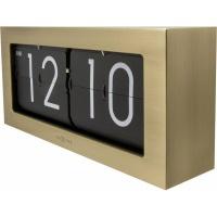 NeXtime 36cm Big Flip Metal Wall or Table Clock - Gold Photo