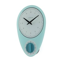 NeXtime 27.5cm Hans Glass Kitchen Wall Clock - Blue Photo