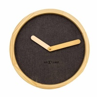 NeXtime 30cm Calm Wood & Fabric Wall Clock - Designed by Jette Scheib Photo