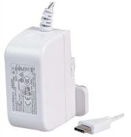 Raspberry Pi 4 Model B PSU USB-C 5.1V 3A UK/EU Plugs White Photo