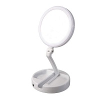Foldable Double-sided LED Illuminated Cosmetic Mirror Photo
