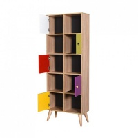 Adore Rainbow Young Room 10 Shelves 5 Doors Bookcase 5 year Warranty Photo