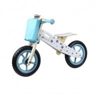 Kinderline Woodline Wooden Balance Bike - Sky Blue Photo