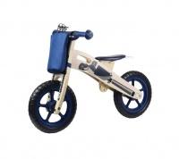 Kinder Line Woodline Wooden Balance Bike - Dark Blue Photo