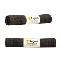 Regent Woven Vinyl Placemat - 4 Pack Black/Camel Photo