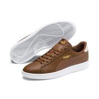Puma Men's Smash V2 Tennis Inspired Shoes - Brown/Gold Photo