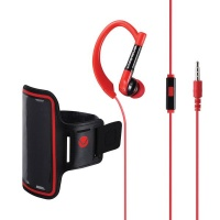 Volkano Haste Series Sports Hook Aux Earphones with Pouch Photo