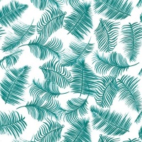 Gift Wrapping Paper 5m Roll - Teal Fern Photo
