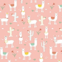 Gift Wrapping Paper 5m Roll - Coral Pink Llama Photo