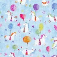 Gift Wrapping Paper 5m Roll - Unicorns with Balloons Photo