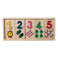 Educational Blocks Connect Wooden Numbers Photo