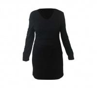 Long Sleeve Nightie Black Photo