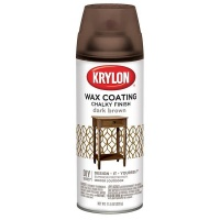 Krylon Chalky Finish Dark Brown Wax Coat - 354ml Photo