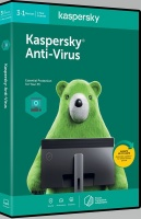 Kaspersky 2020 Anti-Virus 3 1 pieces 1 year DVD Photo