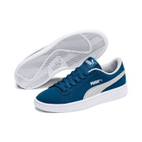 Puma Junior Smash V2 Buck Tennis Inspired Shoes - Blue/White Photo