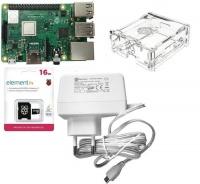 Raspberry Pi 3 B Basic Kit 1Gb Ram micro-SD Card Case Photo